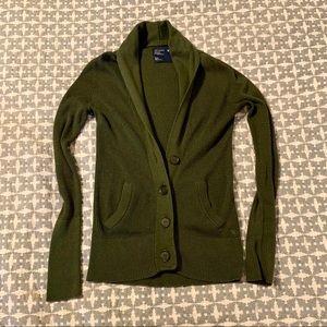 Women's Medium American Eagle Cardigan Dark Green